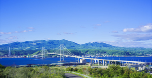 北海道 風景 祝津公園より室蘭港遠望 の写真素材 [FYI04600271]