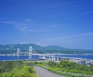 北海道 風景 祝津公園より室蘭港遠望 の写真素材 [FYI04600274]