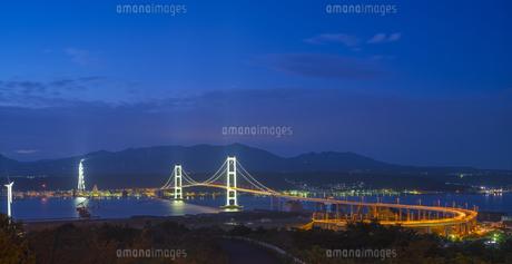 北海道 風景 祝津公園より室蘭港遠望 (夕景)の写真素材 [FYI04600292]