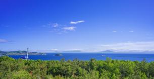 北海道 風景 白鳥湾展望台より内浦湾 (噴火湾) を望むの写真素材 [FYI04600322]