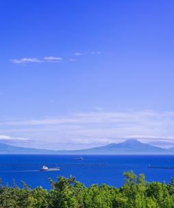 北海道 風景 白鳥湾展望台より内浦湾 (噴火湾) を望むの写真素材 [FYI04600327]