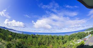 北海道 風景 白鳥湾展望台より内浦湾 (噴火湾) を望むの写真素材 [FYI04600337]