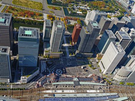東京の街並み空撮の写真素材 [FYI04601031]
