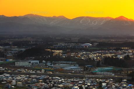 岩手県北上市の夕景の写真素材 [FYI04601305]
