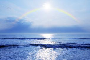 九十九里の海と虹の写真素材 [FYI04601479]