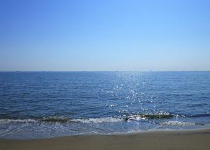 幕張の浜から見る東京湾の写真素材 [FYI04601482]