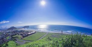 北海道 風景 潮見公園よりイタンキ浜遠望 (昼景)の写真素材 [FYI04601538]