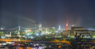 北海道 風景 潮見公園より室蘭市街遠望 (夕景)の写真素材 [FYI04601561]