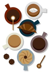 コーヒーカップ(カラフル)のイラスト素材 [FYI04602074]