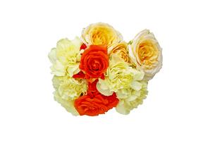 薔薇とカーネーションの花束の写真素材 [FYI04602688]