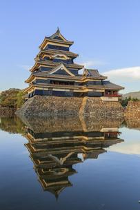 夕暮れの松本城 長野県松本市の写真素材 [FYI04603098]