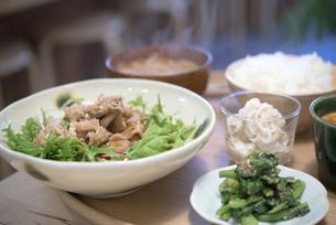 豚肉の生姜焼きの写真素材 [FYI04603411]