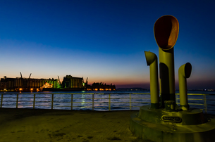 博多港夜景の写真素材 [FYI04603675]