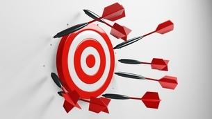 All dart arrows missed target.3d illustration.のイラスト素材 [FYI04603923]