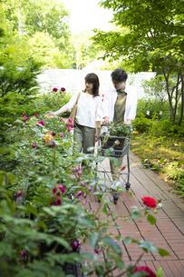 ガーデンショップで買い物をするミドルのカップルの写真素材 [FYI04603972]