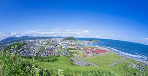 北海道 風景 潮見公園よりイタンキ浜遠望 の写真素材 [FYI04604000]