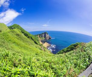 北海道 自然 風景 断崖と海の写真素材 [FYI04604023]