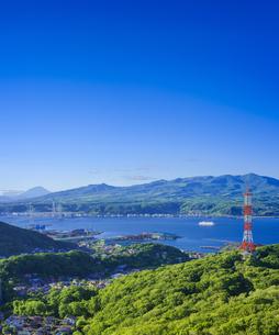 北海道 風景 測量山より室蘭市街遠望 の写真素材 [FYI04604030]