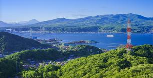 北海道 風景 測量山より室蘭市街遠望 の写真素材 [FYI04604031]