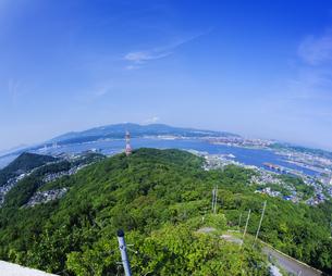 北海道 風景 測量山より室蘭市街遠望 の写真素材 [FYI04604033]