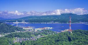 北海道 風景 測量山より室蘭市街遠望 の写真素材 [FYI04604038]
