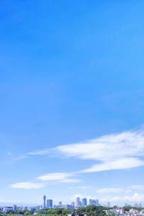 通天閣と夏空の写真素材 [FYI04604290]