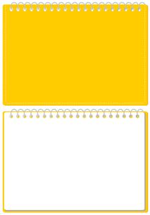 スケッチブック リングノート 表紙とページのセット イラスト ※A4のサイズのイラスト素材 [FYI04604342]
