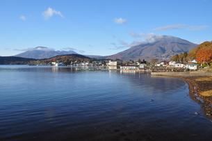 野尻湖の秋の写真素材 [FYI04604975]