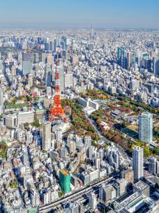東京の街並み空撮の写真素材 [FYI04605046]