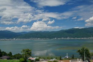 夏の諏訪湖の写真素材 [FYI04605063]