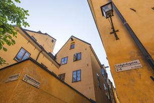 スウェーデン、ガムラスタン(旧市街)の建物の写真素材 [FYI04605077]