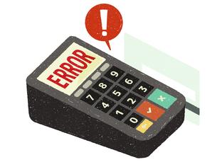 クレジットカード-決済エラーのイラスト素材 [FYI04605216]