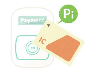 ICカード-キャッシュレス決済のイラスト素材 [FYI04605232]