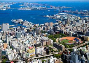 横浜の風景空撮の写真素材 [FYI04605269]