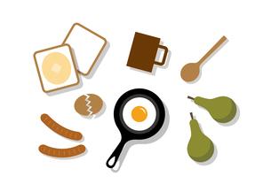 朝食セットのイラスト素材 [FYI04605296]