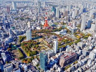東京の街並み空撮の写真素材 [FYI04605307]