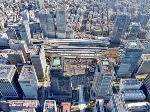 東京の街並み空撮の写真素材 [FYI04605308]