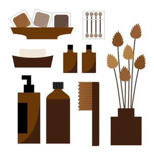 洗面用品(茶色)のイラスト素材 [FYI04605314]