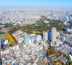 東京の街並み空撮の写真素材 [FYI04605452]