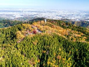高尾山空撮の写真素材 [FYI04605457]
