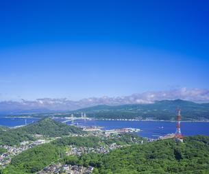 北海道 風景 測量山より室蘭市街遠望 の写真素材 [FYI04605507]