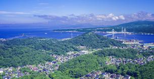 北海道 風景 測量山より室蘭市街遠望 の写真素材 [FYI04605530]
