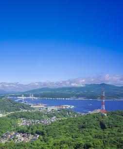 北海道 風景 測量山より室蘭市街遠望 の写真素材 [FYI04605532]