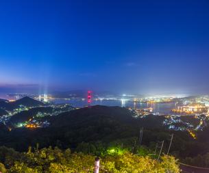 北海道 風景 測量山より室蘭市街遠望 (夕景)の写真素材 [FYI04605554]