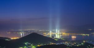 北海道 風景 測量山より室蘭市街遠望 (夕景)の写真素材 [FYI04605559]