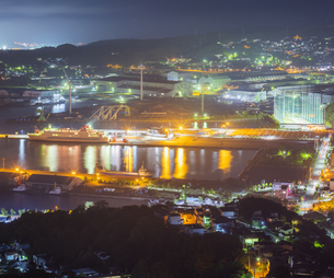 北海道 風景 測量山より室蘭市街遠望 (夕景)の写真素材 [FYI04605563]