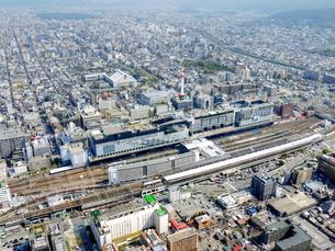京都の街並み空撮の写真素材 [FYI04605913]
