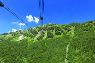 夏の立山ロープウェイの写真素材 [FYI04606036]
