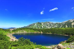 夏の立山 室堂平にミクリガ池の写真素材 [FYI04606077]