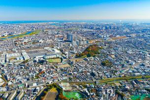 川崎の街並み空撮の写真素材 [FYI04606692]